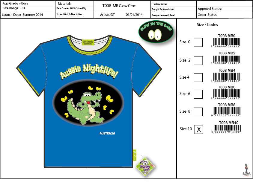 T008  MB Glow Croc Shirt Sell Sheet A4