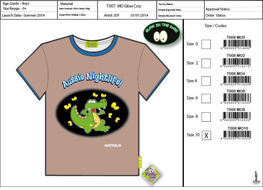 T008  MO Glow Croc Shirt Sell Sheet A4