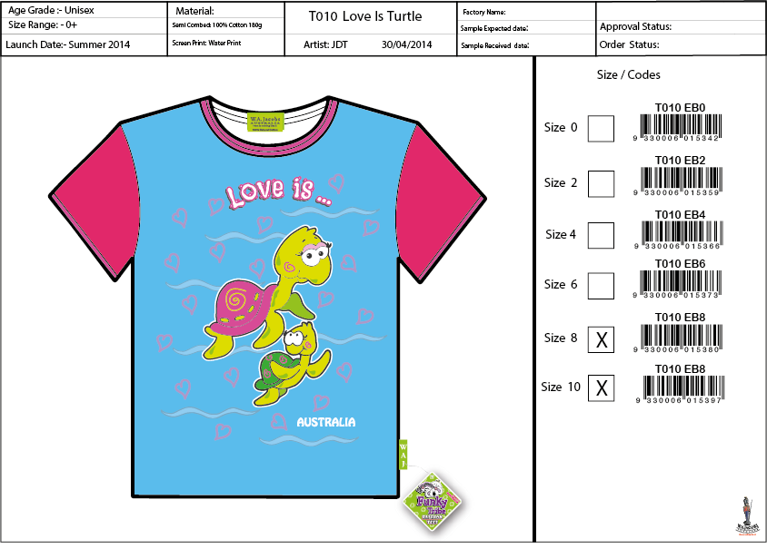T010 EB Love Is Tee Shirt Sell Sheet A4