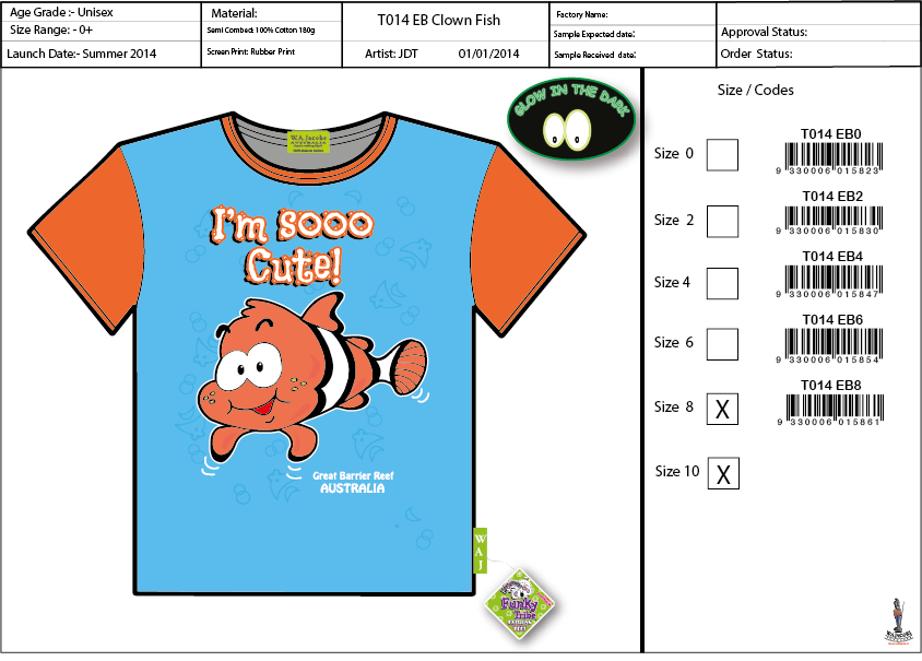 T014 EB Clown Fish Shirt Sell Sheet A4