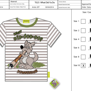 T025-GS-What-Did-Ya-Do-kangaroo-Tee-Shirt-Sell-Sheet-A4